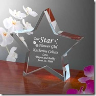 Our Flower Girl Star Keepsake
