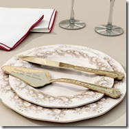 Gold Cake Knife and Server Set