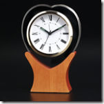 Glass Heart Alarm Clock