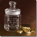 Life is Sweet Glass Jar
