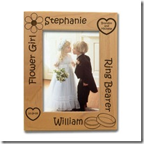 Flower Girl and Ring Bearer Wooden Picture Frame