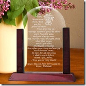 Mom Poem Glass Keepsake