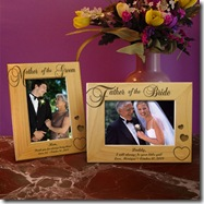 Parents of the Bride and Groom Wooden Picture Frame