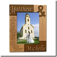 Wedding Vows Wooden Frame