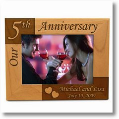 OurAnniversaryWoodenPictureFrame