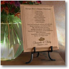 RecipeForAHappyMarriageWoodenPlaque