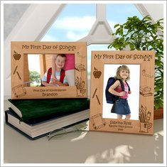 FirstDayOfSchoolWoodenPictureFrame