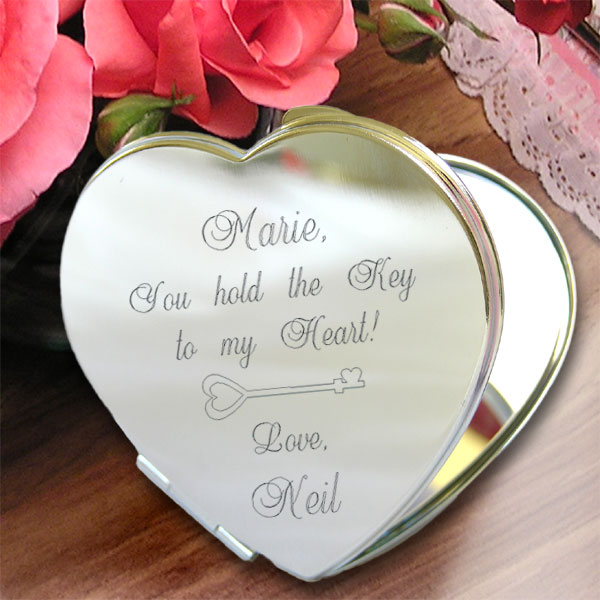 Key To My Heart Compact Mirror