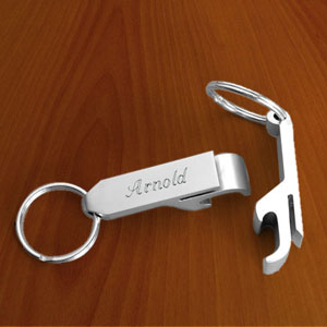 Stainless Steel Bottle Opener Key Chain