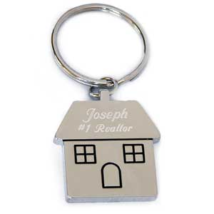House Silver Plated Key Chain