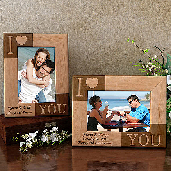 I Love You Wooden Picture Frame