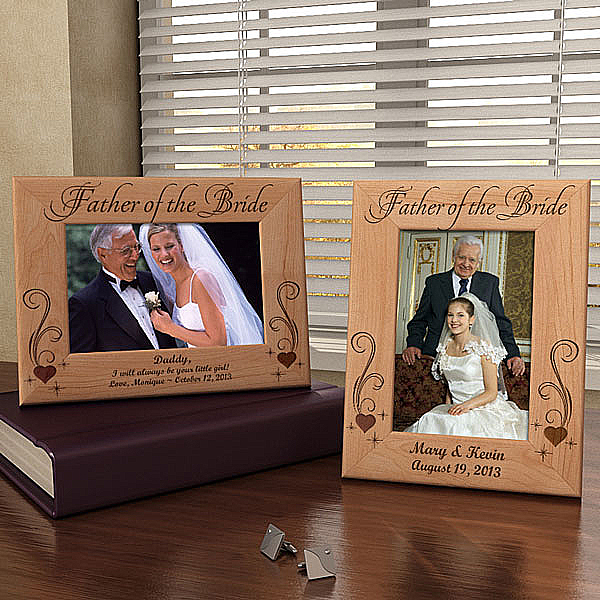 To My Parents on My Wedding Day Wooden Picture Frame