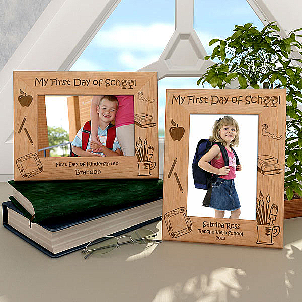 My First Day of School Wooden Picture Frame