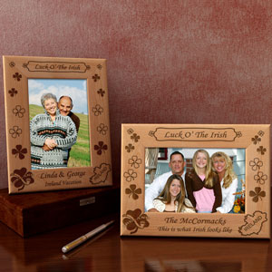 Luck O' The Irish Wooden Picture Frame