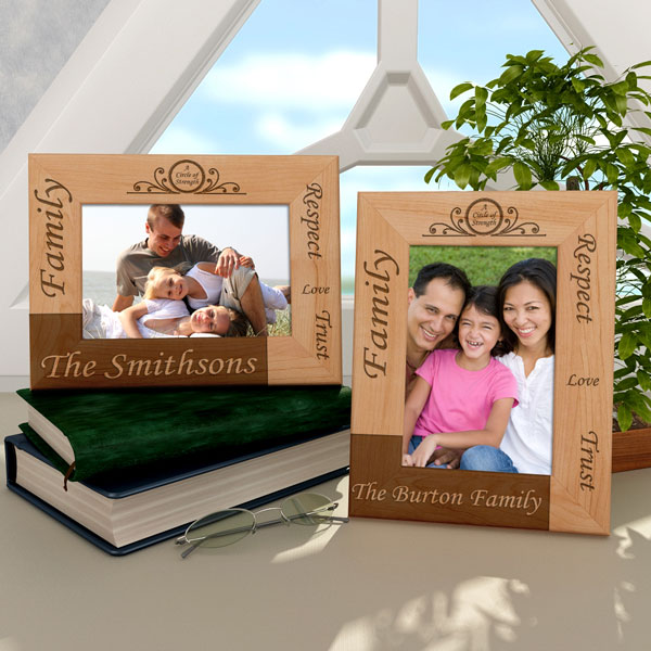 Family Circle of Strength Wooden Picture Frame