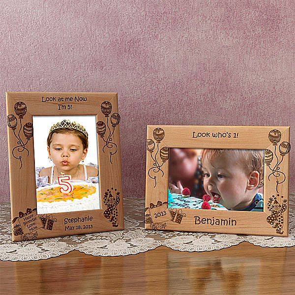 Happy Birthday Wooden Picture Frame