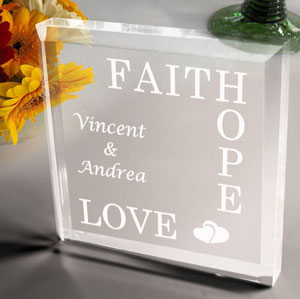 Faith, Hope, Love Keepsake & Paperweight