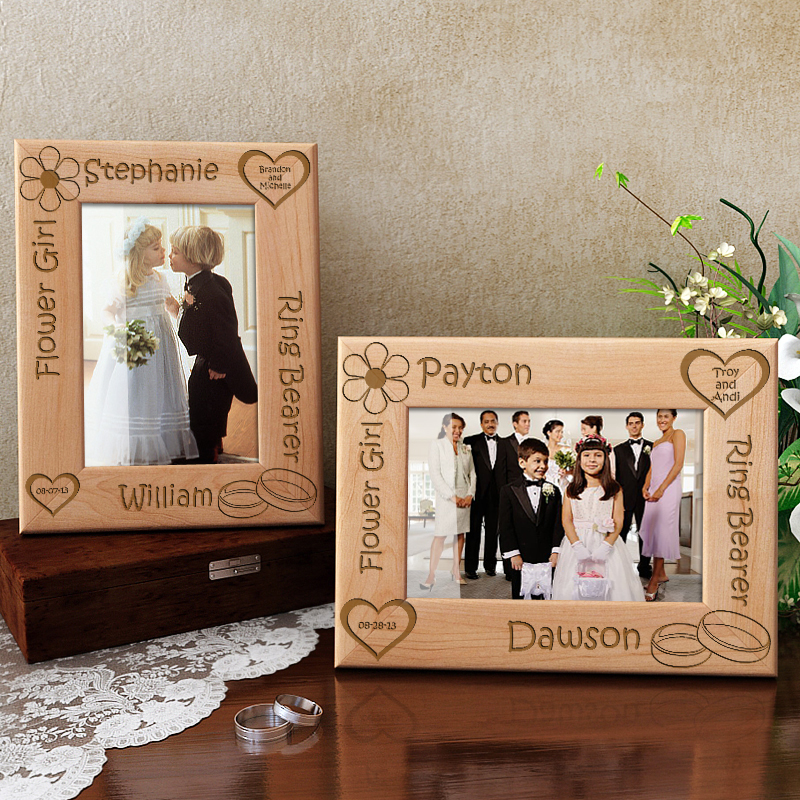 Flower Girl & Ring Bearer Wooden Picture Frame