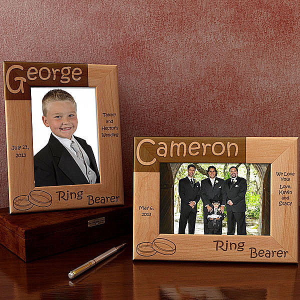 Ring Bearer Wooden Picture Frame
