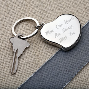 A Mother's Heart Locket Key Chain