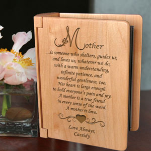 What It Means to Be a Mother Wooden Photo Album
