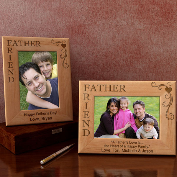 Father & Friend Wooden Picture Frame