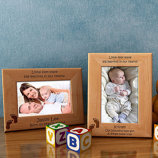 Little Feet Wooden Picture Frame