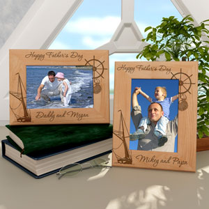 Sailing for Father's Day Wooden Picture Frame
