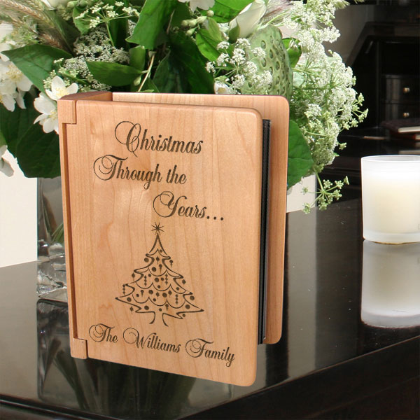Christmas Through the Years...Wooden Photo Album
