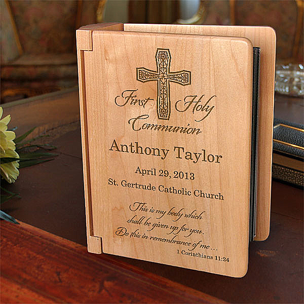 My First Holy Communion Wooden Photo Album
