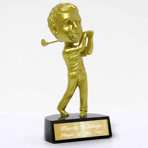 Bobble Head Golf Trophy