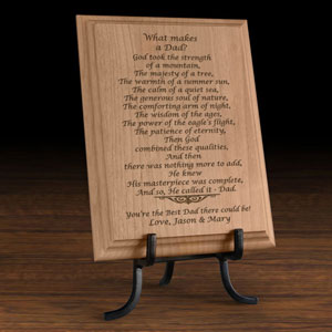 What Makes a Dad Wooden Plaque