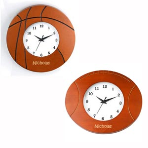 Basketball or Football Wooden Wall Clock