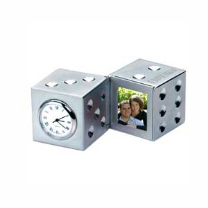 Dice Clock & Photo Holder