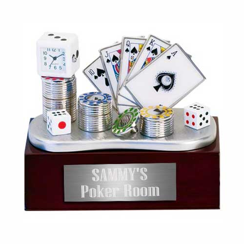 Poker Table Clock Set