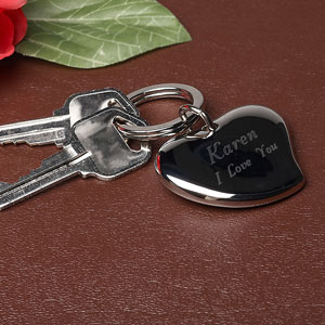 Free Form Heart Key Chain