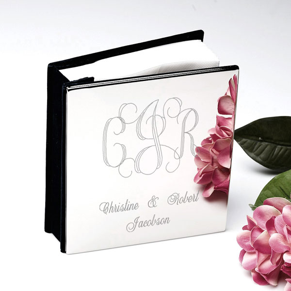 Monogram Silver Photo Album