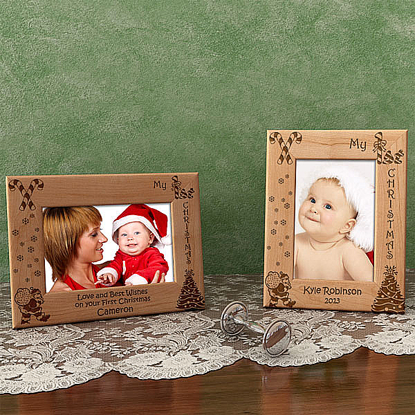 My 1st Christmas Wooden Picture Frame