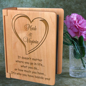 Always Beside You Wooden Photo Album