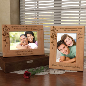 A Thousand Words Wooden Picture Frame