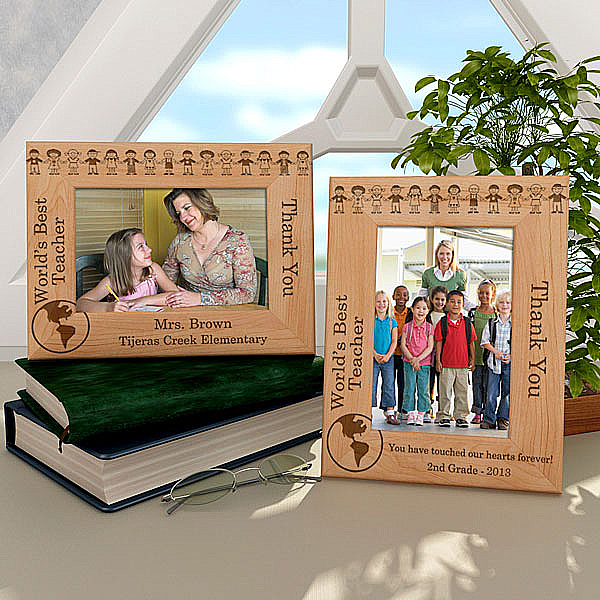 World's Best Teacher Wooden Picture Frame