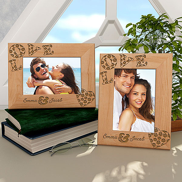 Hibiscus Love Wooden Frame