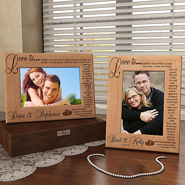Love Never Fails Wooden Picture Frame