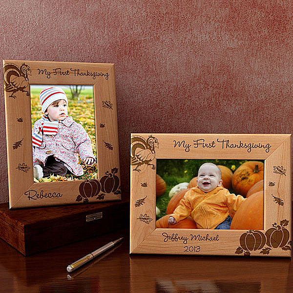 My First Thanksgiving Wooden Picture Frame