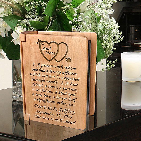 Soul Mate Definition Wooden Photo Album