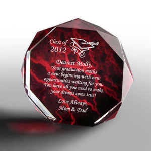 Graduation Marbleized Octagon Keepsake