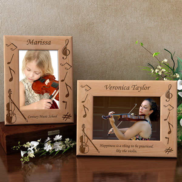 Violin Wooden Picture Frame