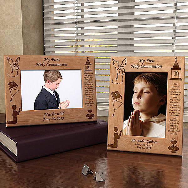First Communion Wooden Picture Frame