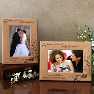 Dreams & Wishes Wooden Picture Frame