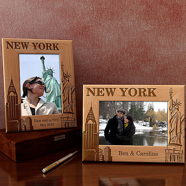 New York Wooden Picture Frame